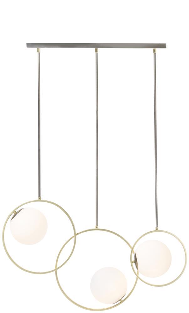 Tripe suspension luminaire anneaux or