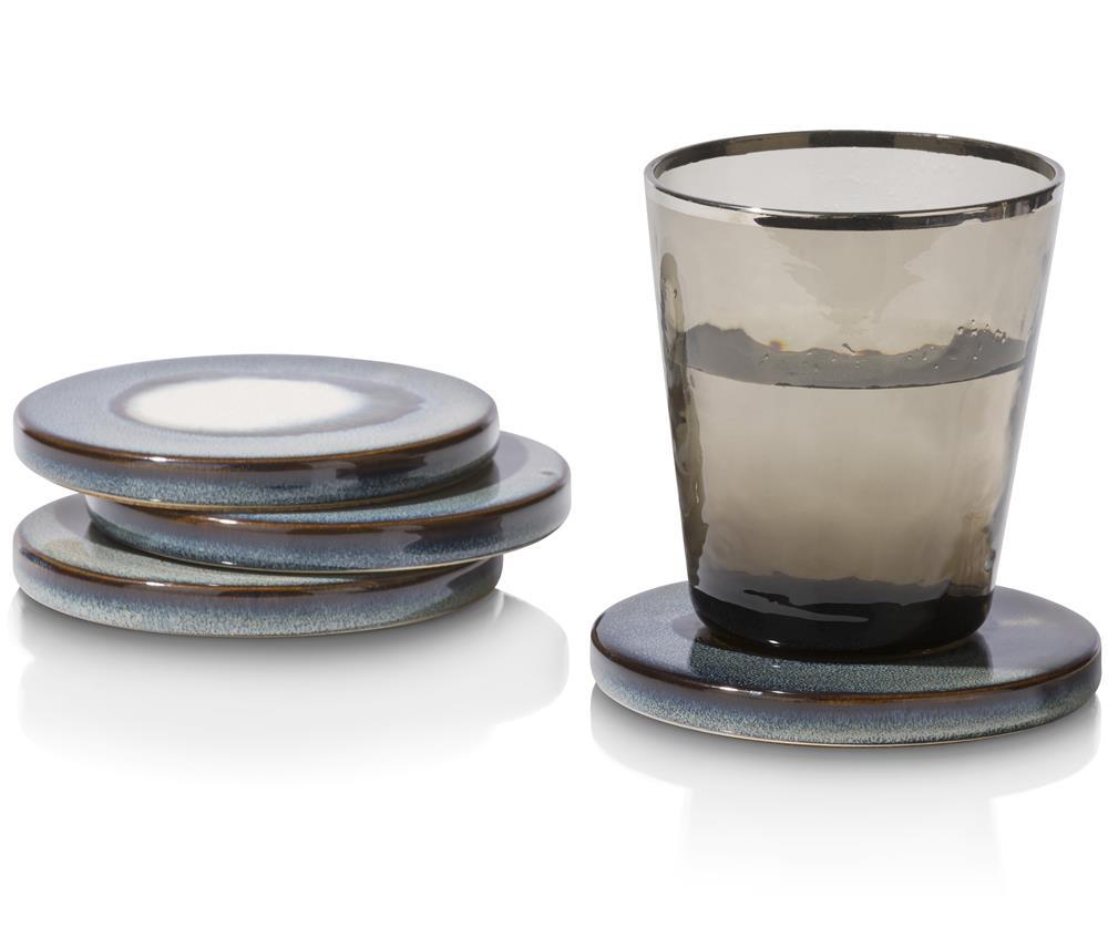 Dessous de verres bleus en céramique