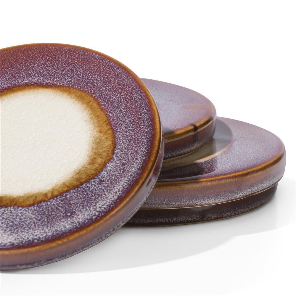 Dessous de verres violets en céramique