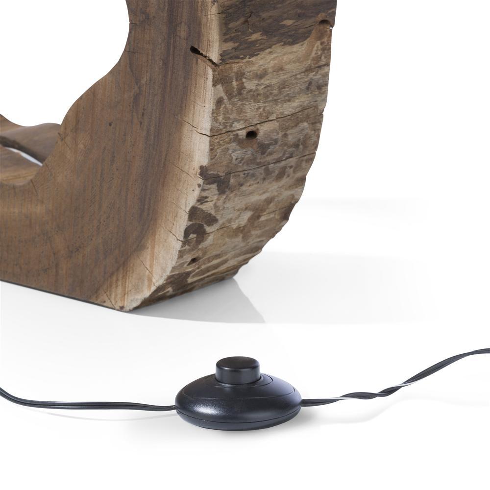 Lampe à poser bois et bande LED