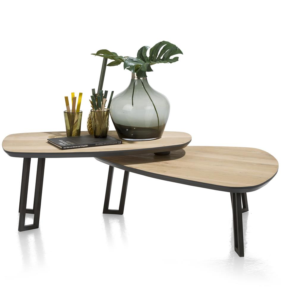 Tables gigognes bois et noir