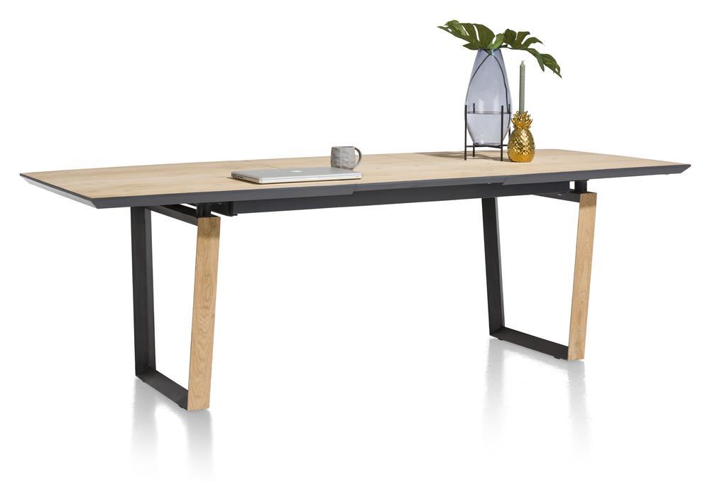 Table à rallonge bois et noir