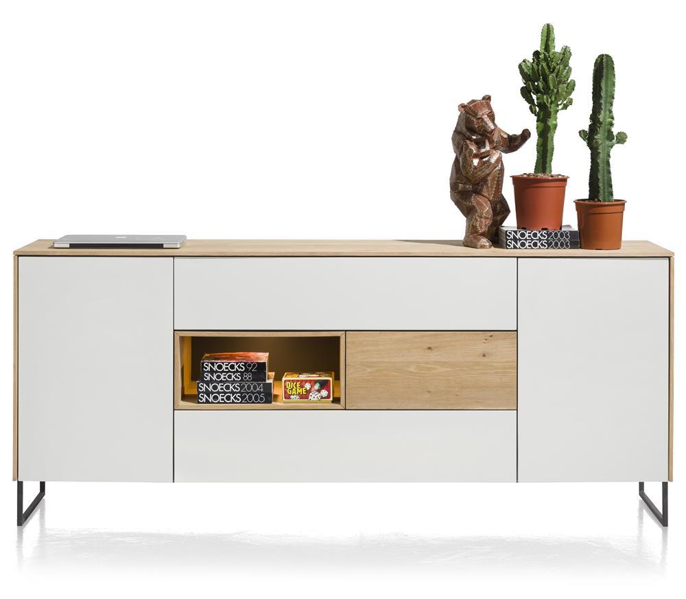 Buffet design bois et blanc