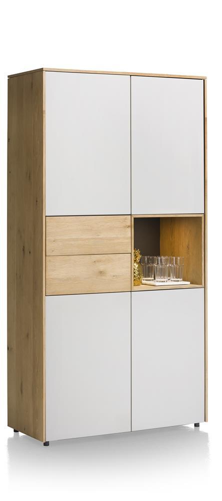 Armoire design bois et blanc