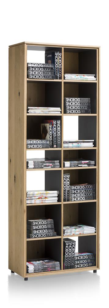 Bibliothèque bois et blanc