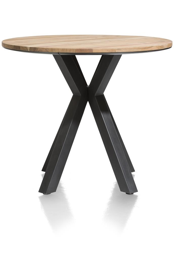Table de bar plateau bois pied noir