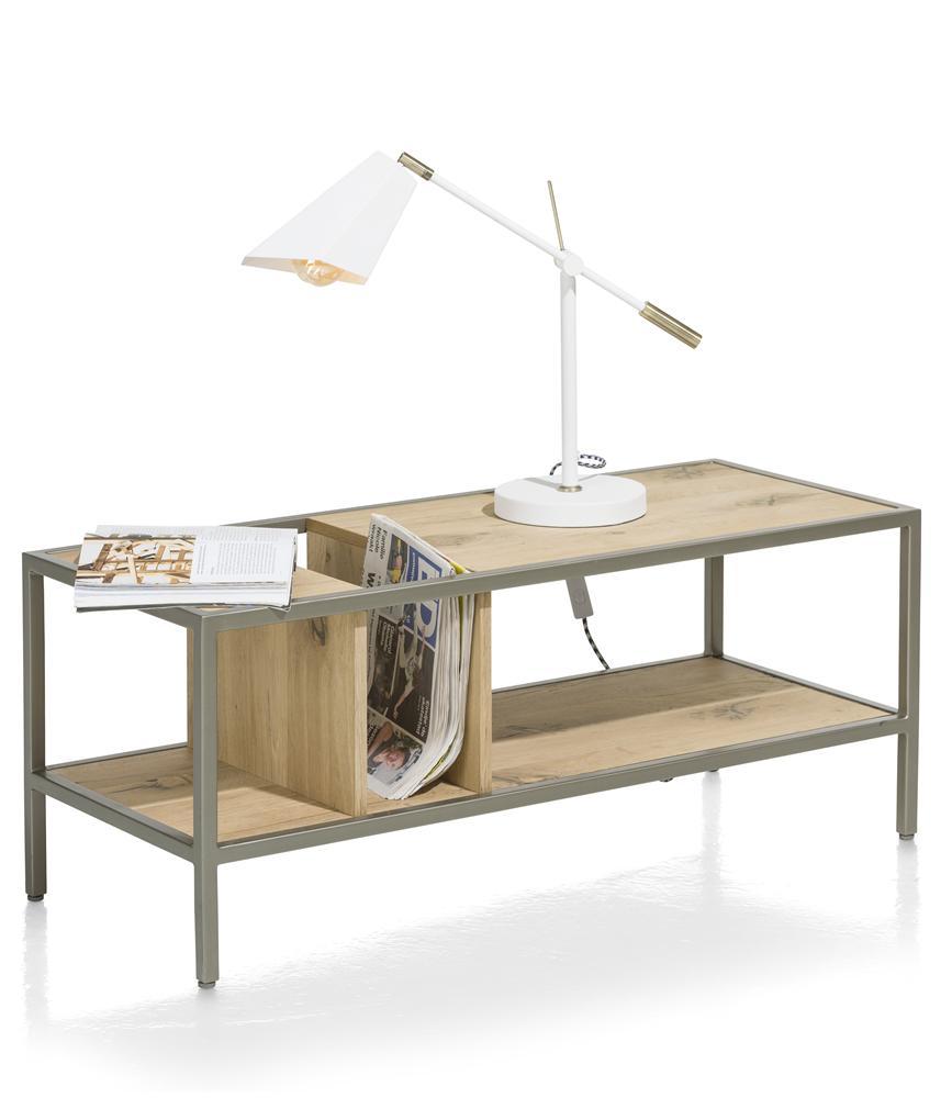 Table d'appoint plateau bois pieds métalliques