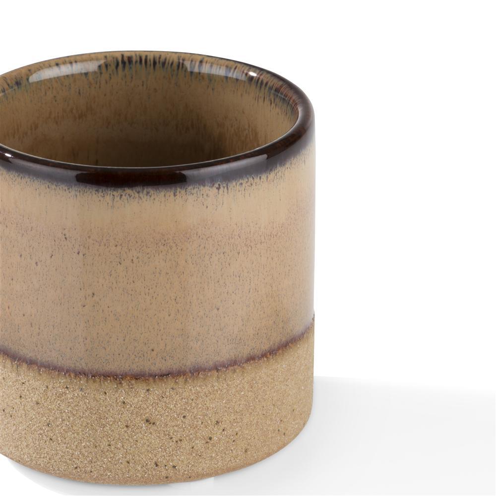 Photophore beige en céramique