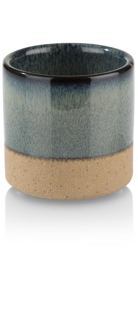 Photophore bleu en céramique