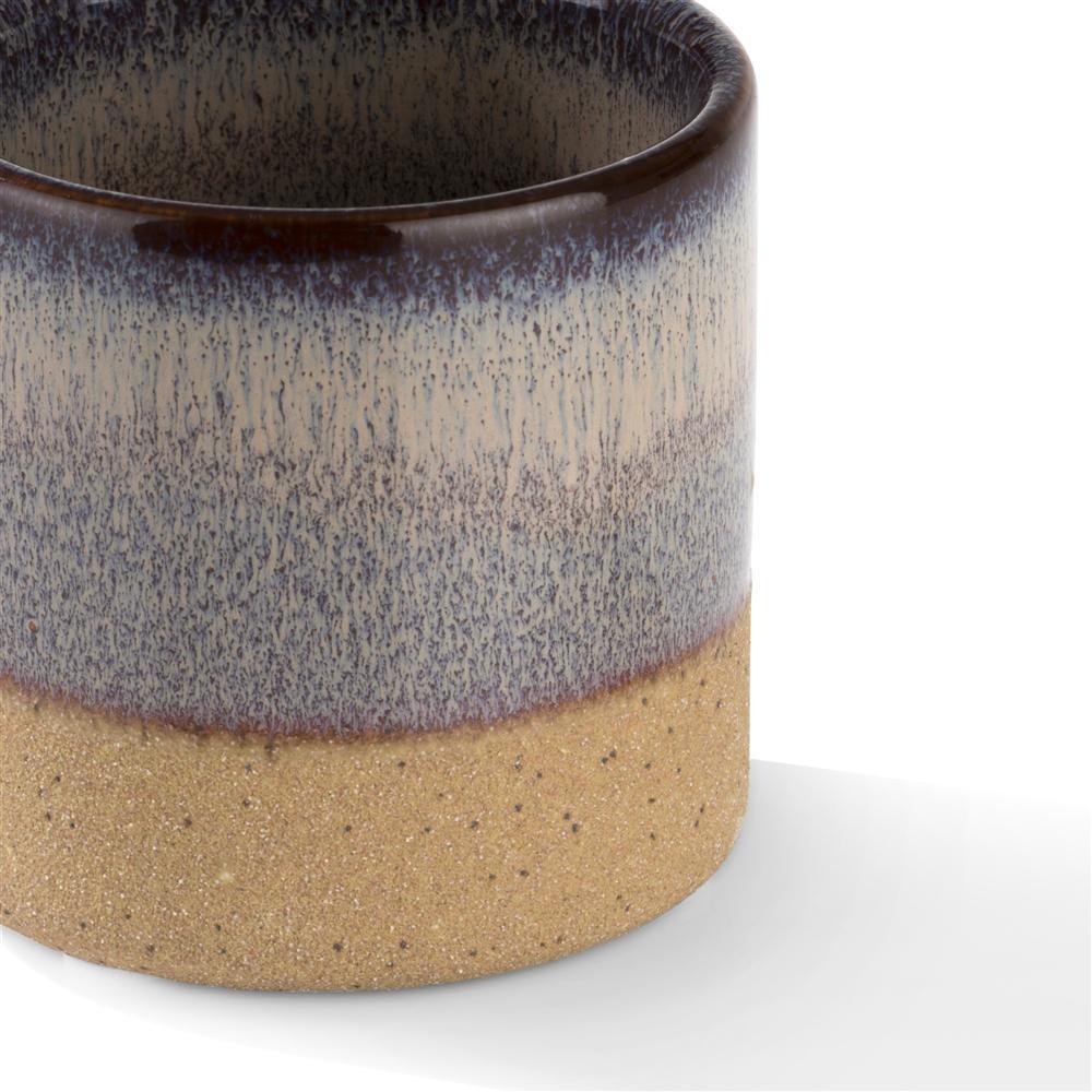 Photophore violet en céramique