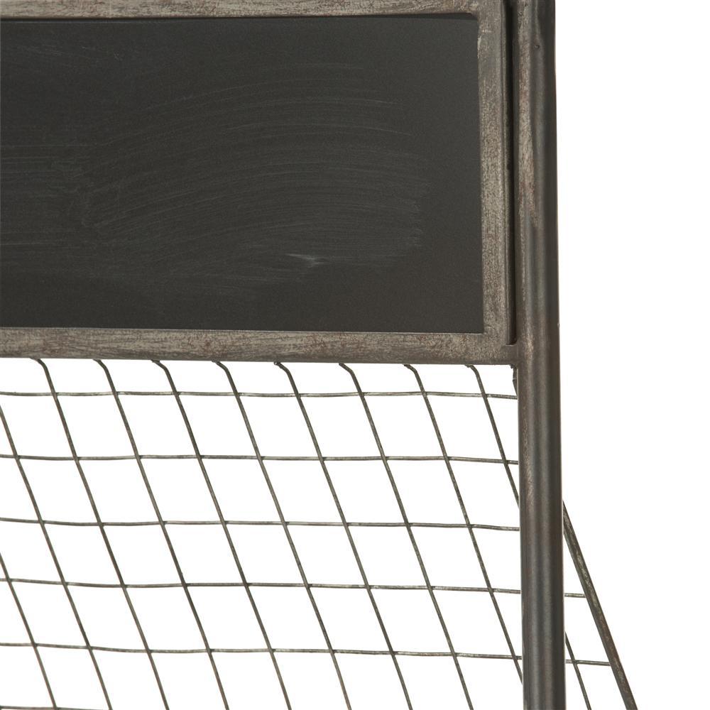 Etagèe en métal avec crochets et tableau à craie