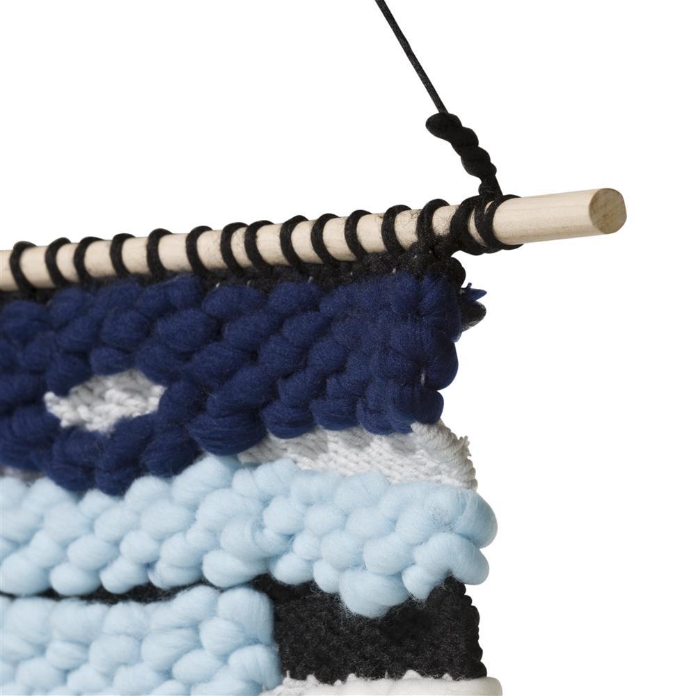 Tapis mural style tricot bleu