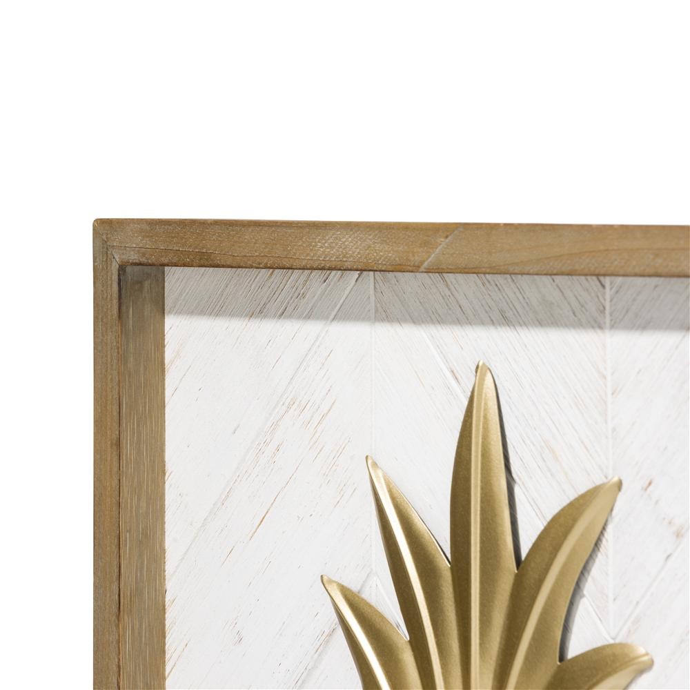 Tableau ananas gold et bois