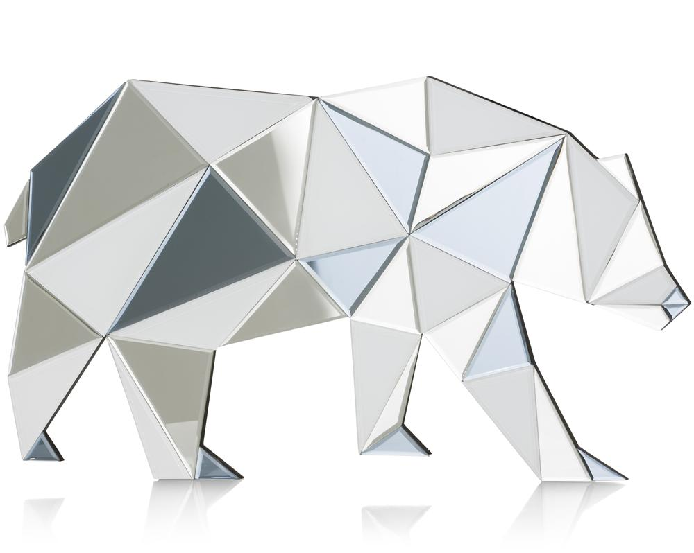 Miroir à poser en forme d'ours