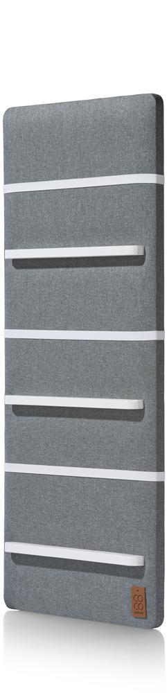 Tableau mémo tissu gris foncé élastiques blancs