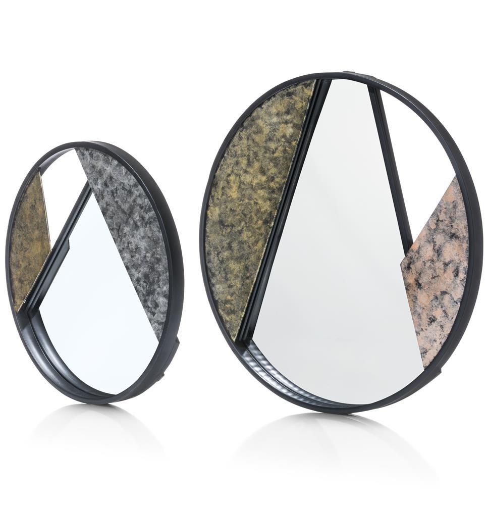 Lot de deux miroirs ronds