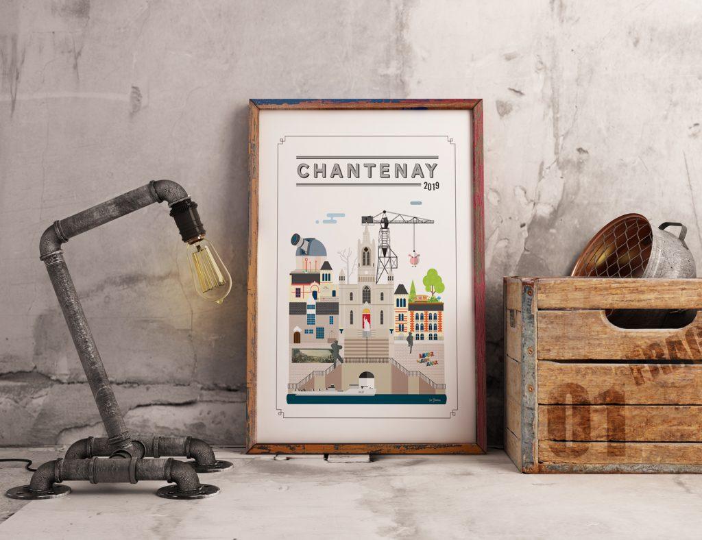 Tableau minimaliste quartier Chantenay Nantes
