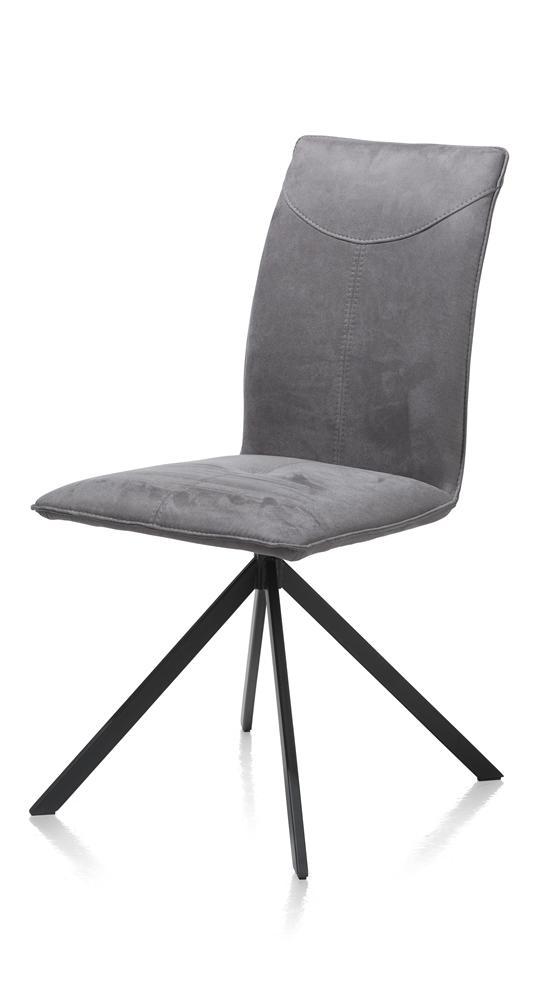 Chaise contemporaine tissus pieds métalliques