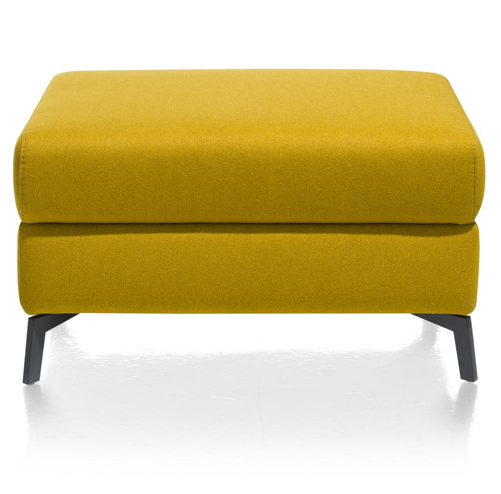 Pouf rectangulaire jaune