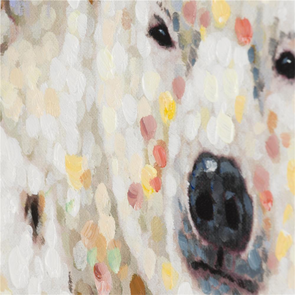 Peinture famille d'ours blancs