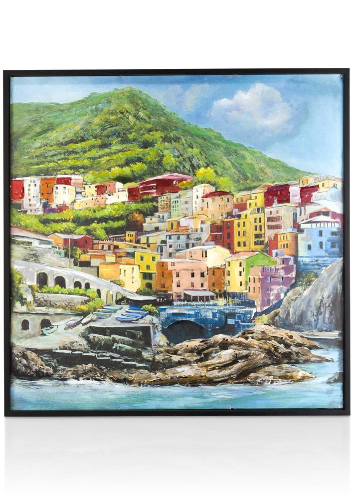 Peinture ville Riomaggiore
