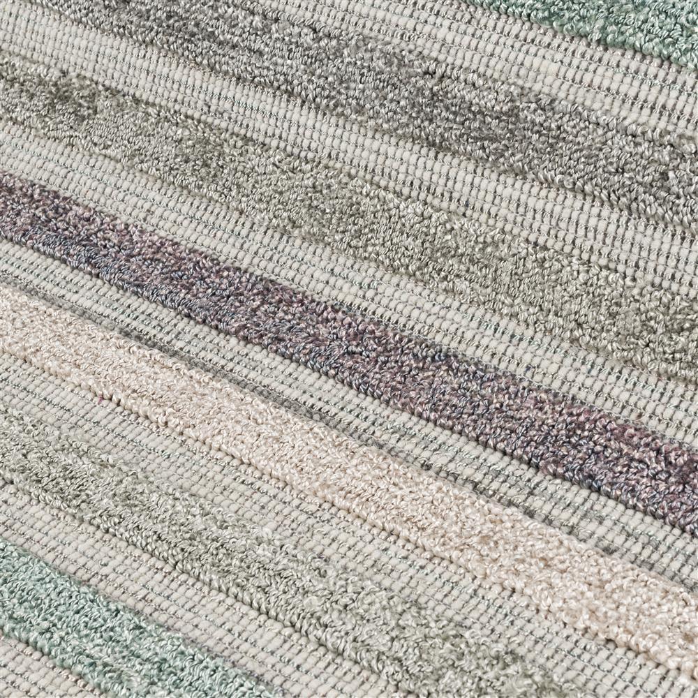 Tapis rectangulaire rayé multicolore