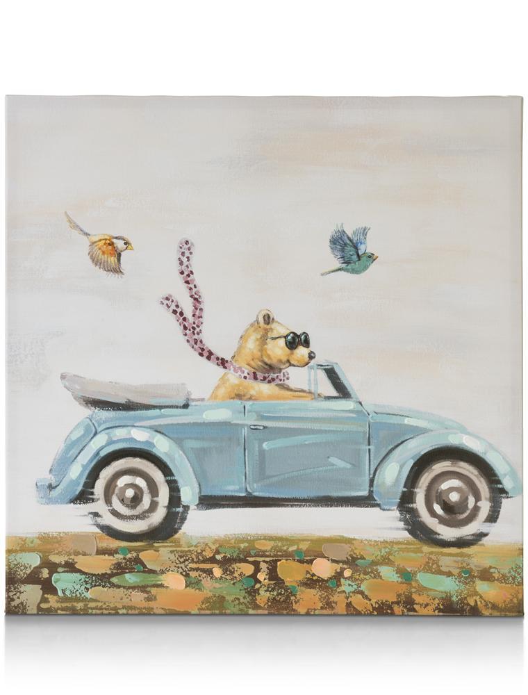 Peinture ours en voiture
