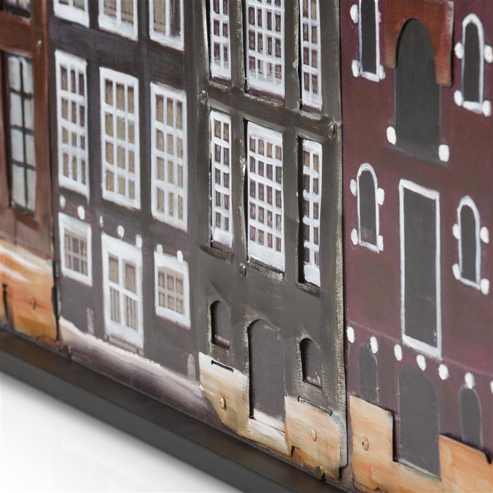Peinture maisons typiques Amsterdam