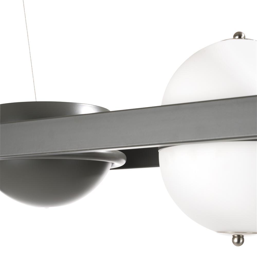 Suspension luminaire gris anthracite et blanc