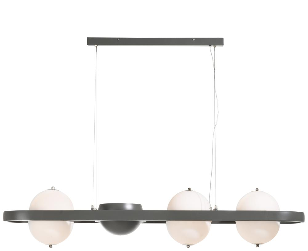 Suspension luminaire gris anthracite et blanc