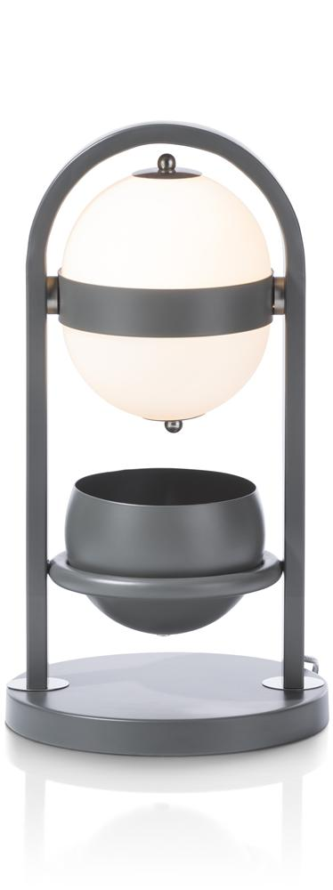 Lampe à poser anthracite et blanc