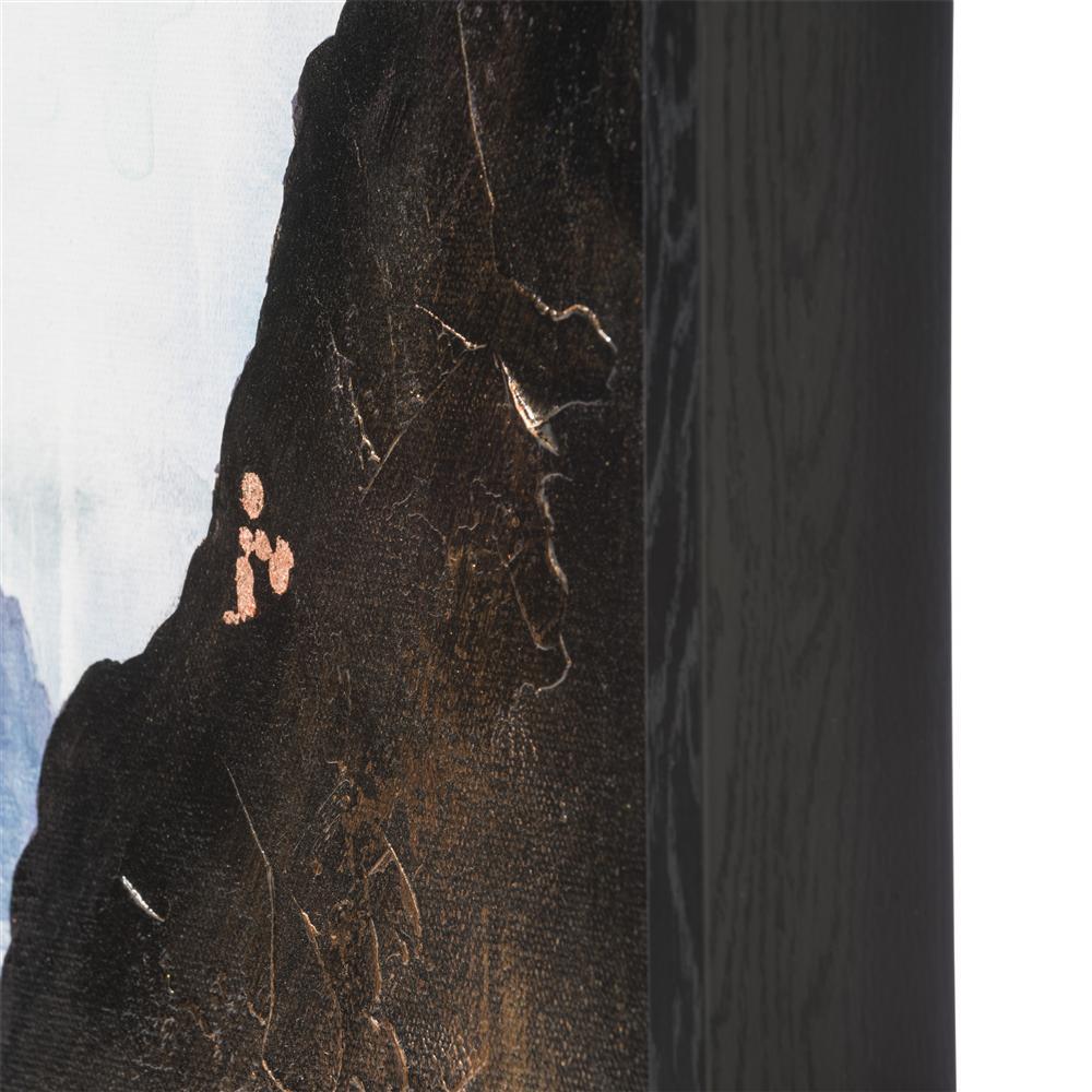 Peinture en 3 parties paysage montagneux