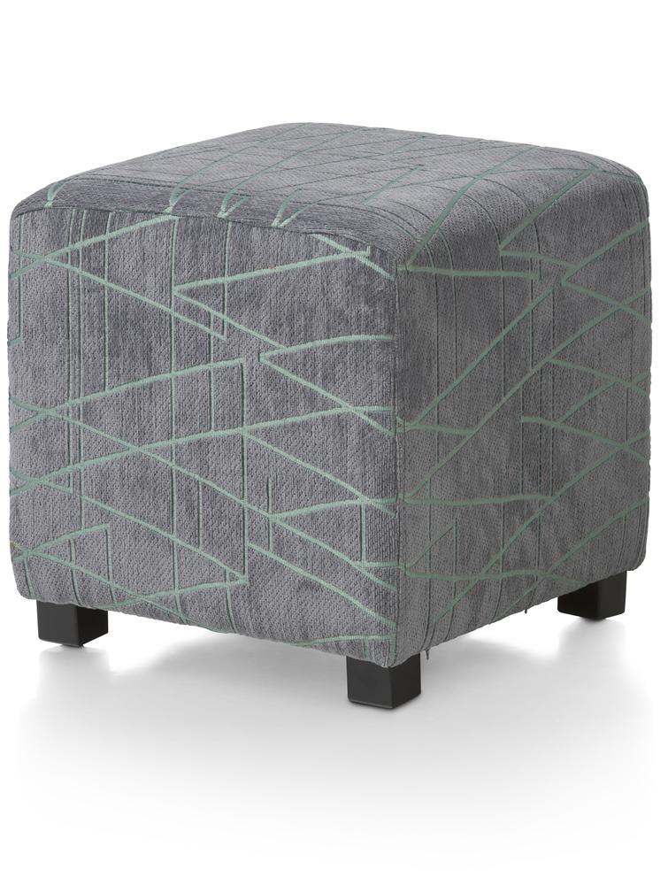 Pouf cubique gris