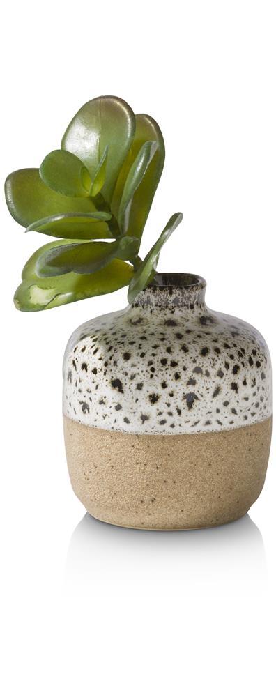 Mini vase en céramique bicolore