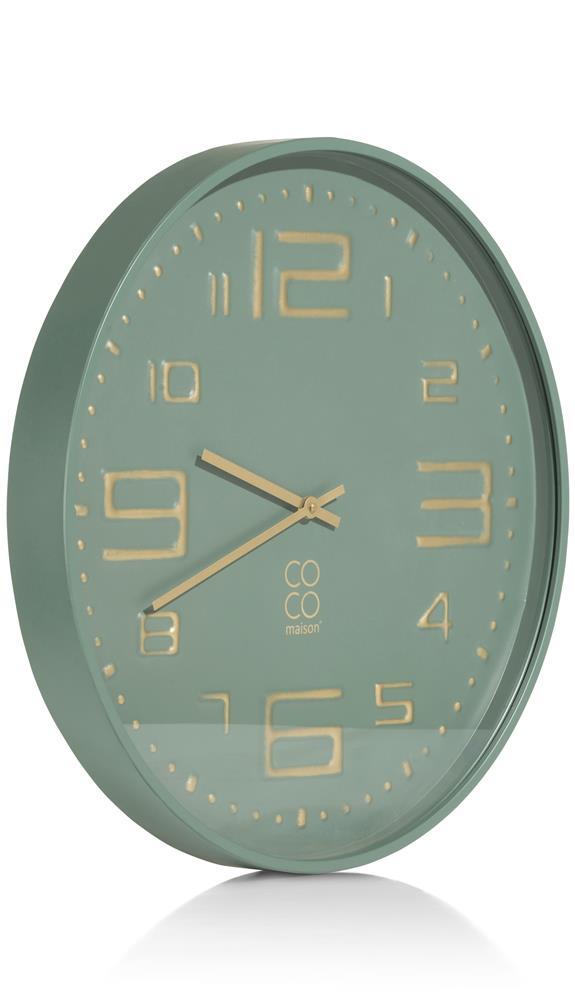Horloge ronde verte et gold