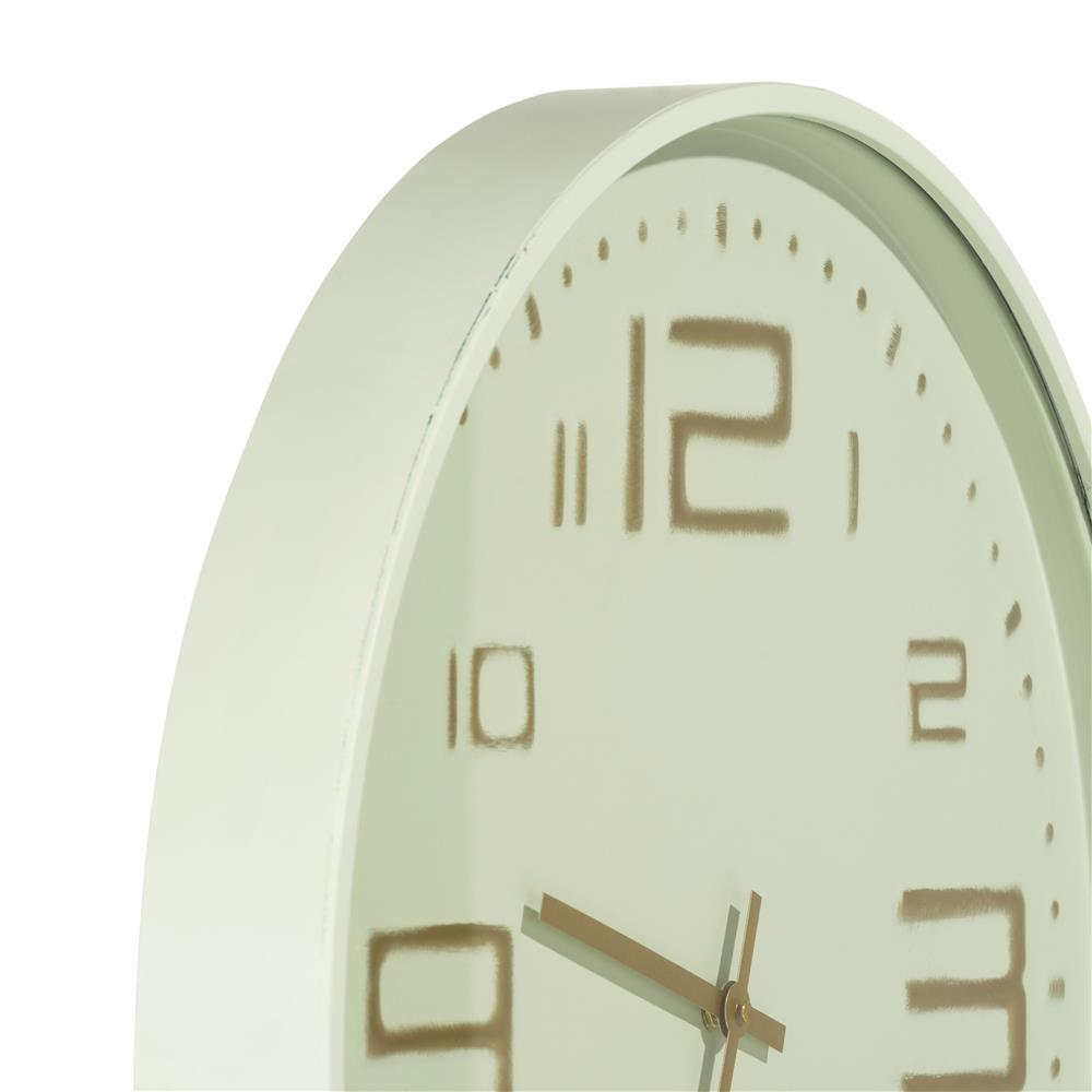 Horloge ronde menthe et gold