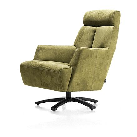 Fauteuil confort pivotant tissu vert