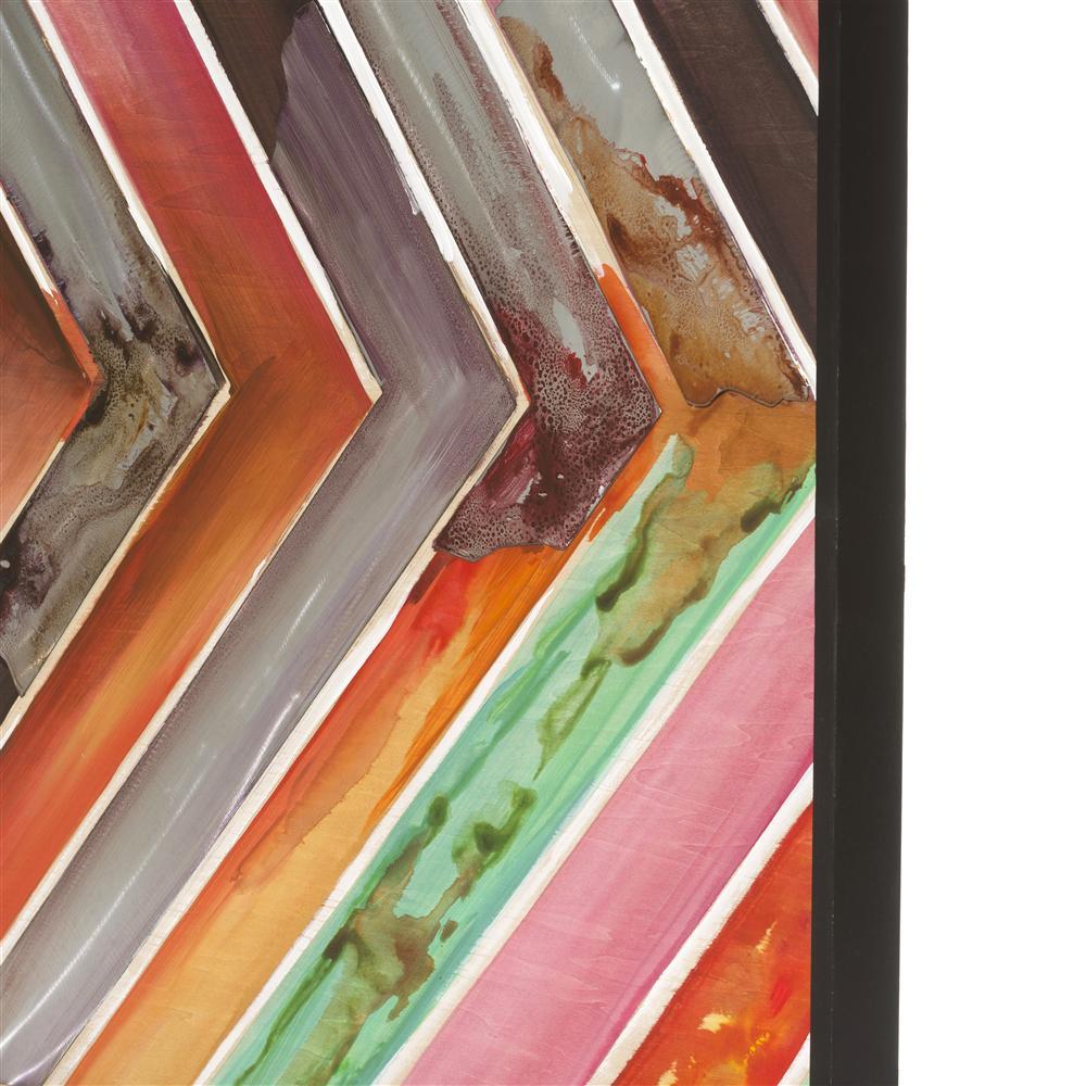 Peinture flèches multicolores