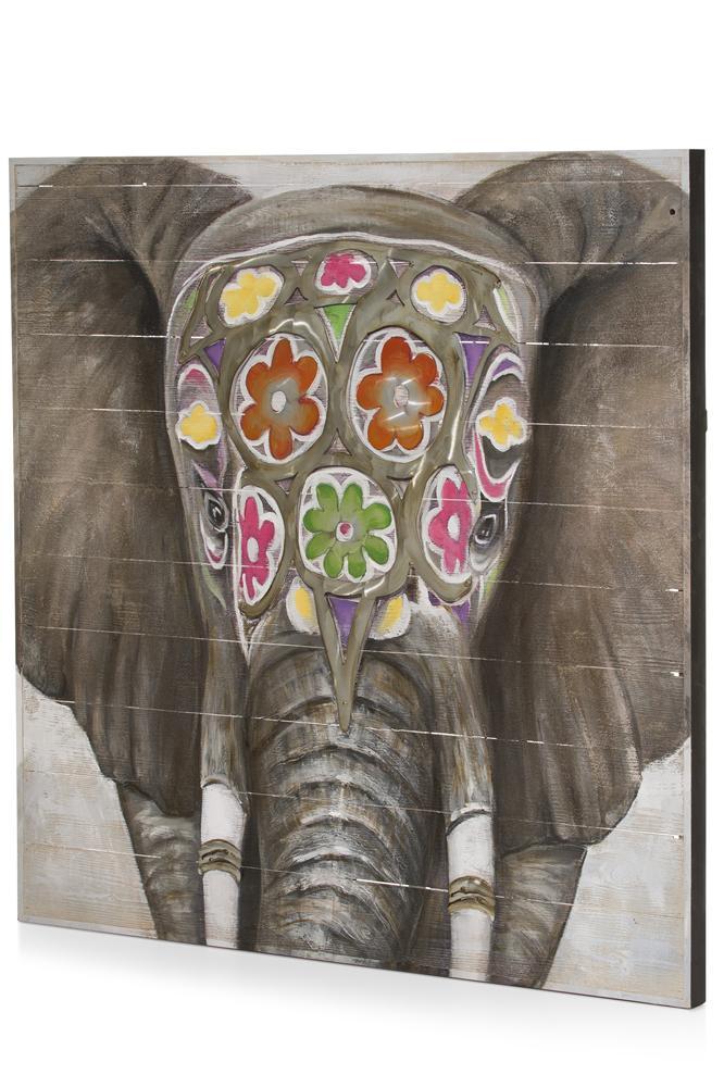 Tableau elephant d'inde