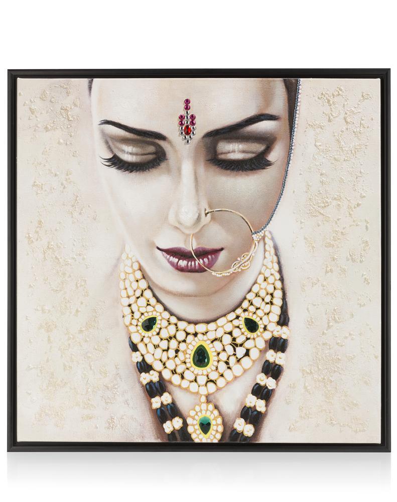 Peinture mariée indienne