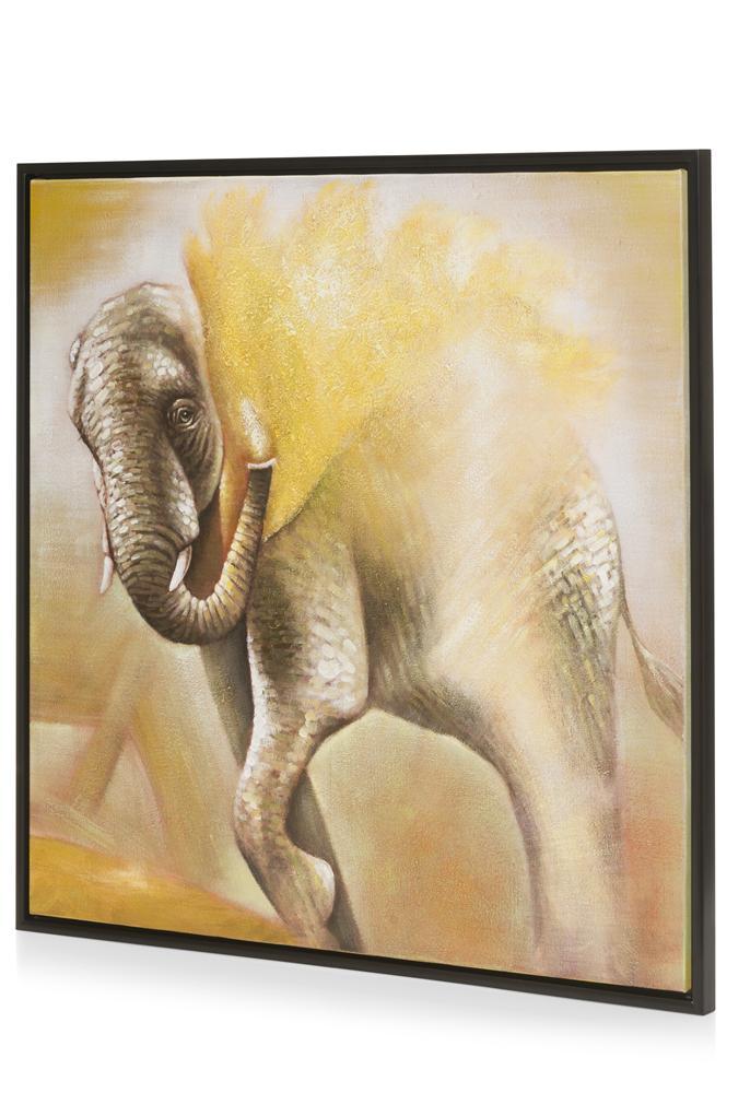 Peinture Elephant doré