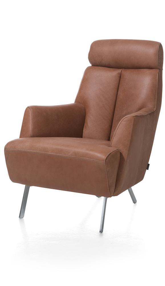Fauteuil confort cuir marron