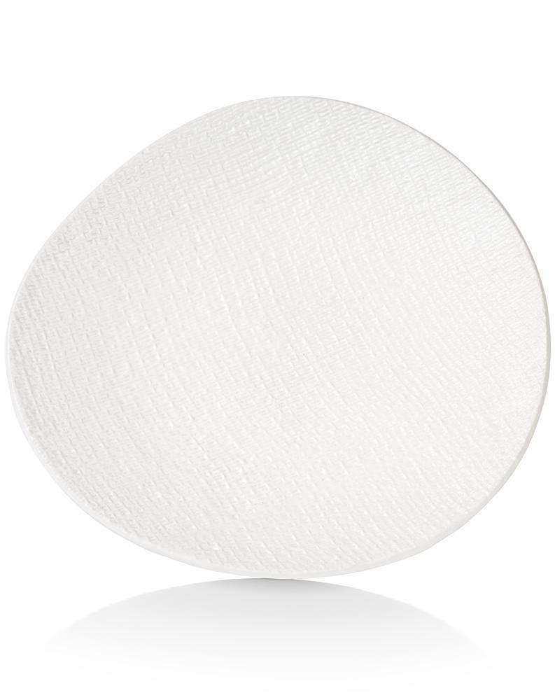 Plateau assiette céramique blanc