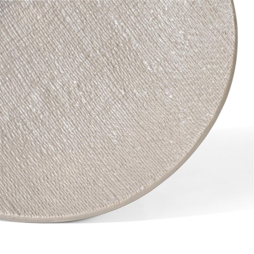 Plateau assiette céramique beige
