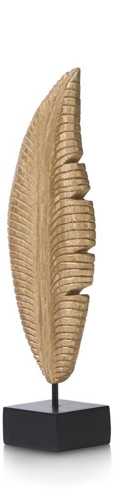 Objet plume en bois gold