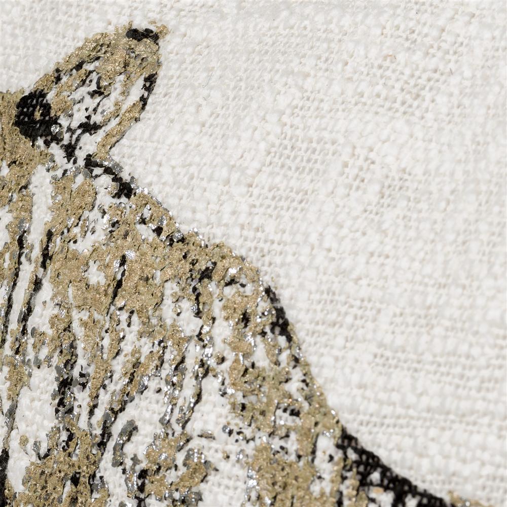 Coussin carré beige et noir motif tigre