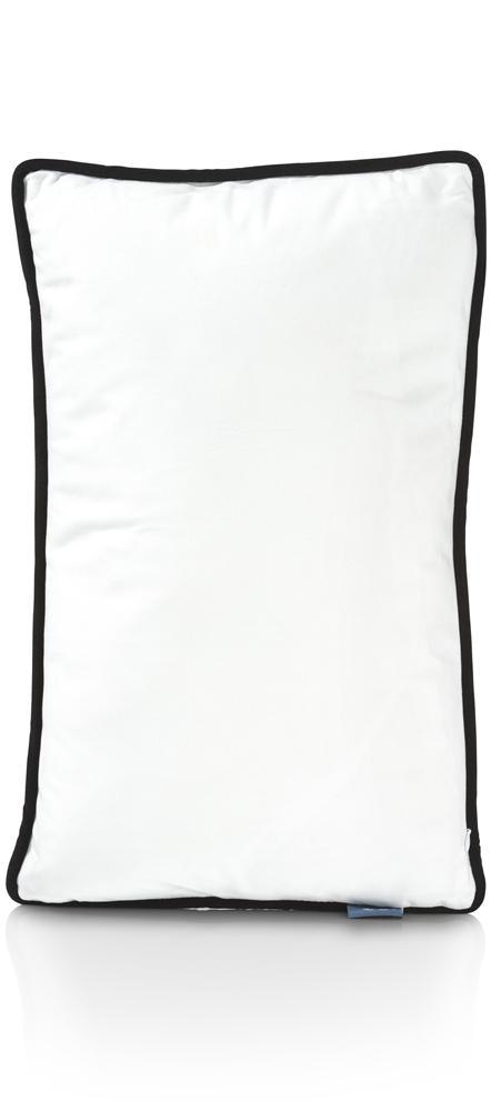 Coussin rectangulaire blanc motif perroquet bleu