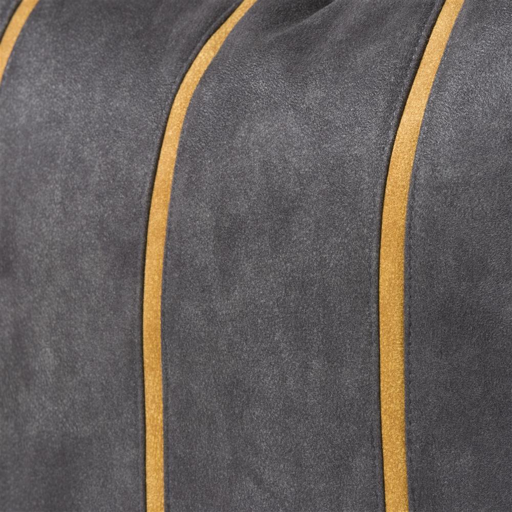 Coussin carré gris détails jaunes
