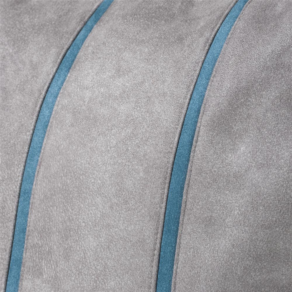 Coussin carré gris détails bleus