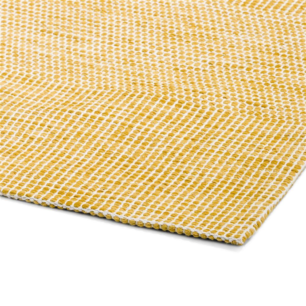 Tapis rectangulaire jaune